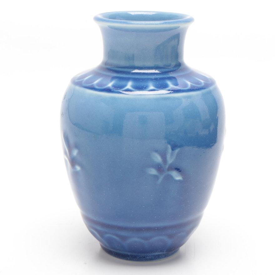 Rookwood Pottery Gloss Blue Vase, 1934