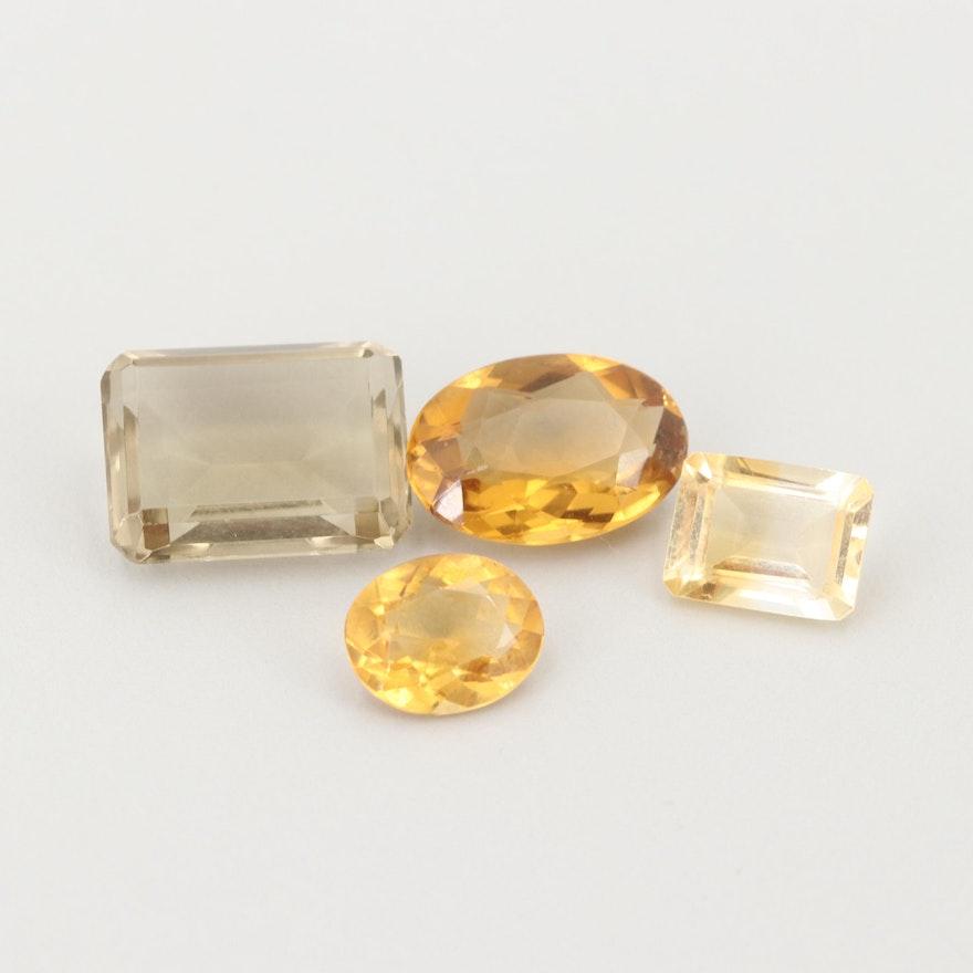 Loose 20.66 CTW Citrine Gemstones