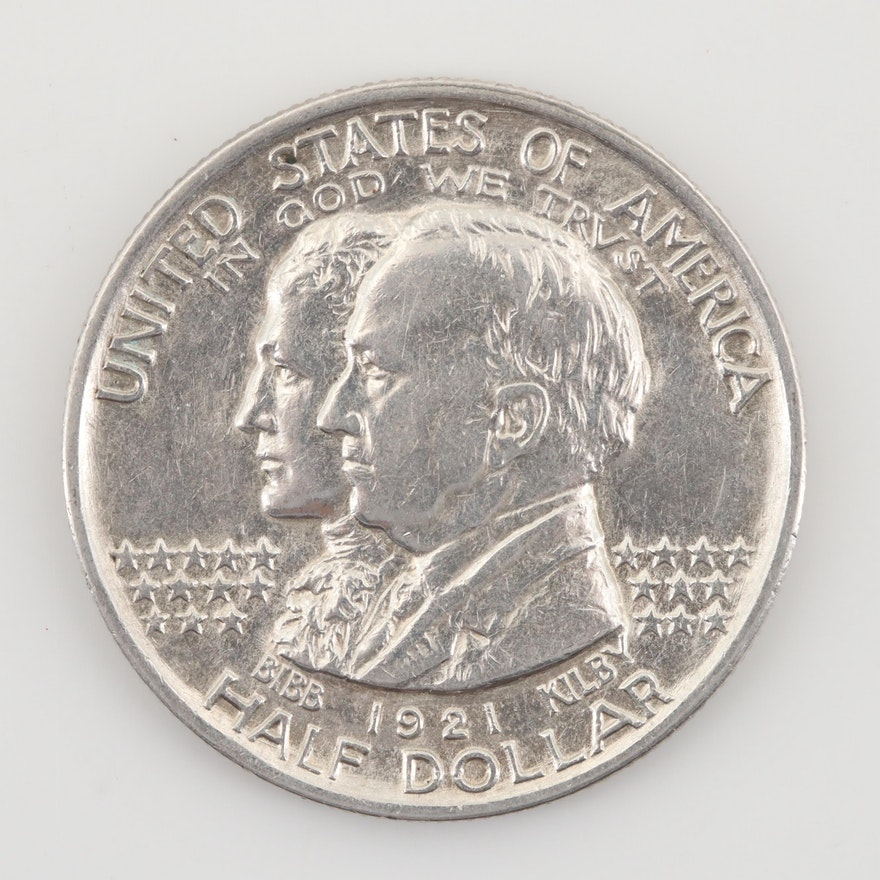 1921 Alabama Commemorative Silver Half Dollar