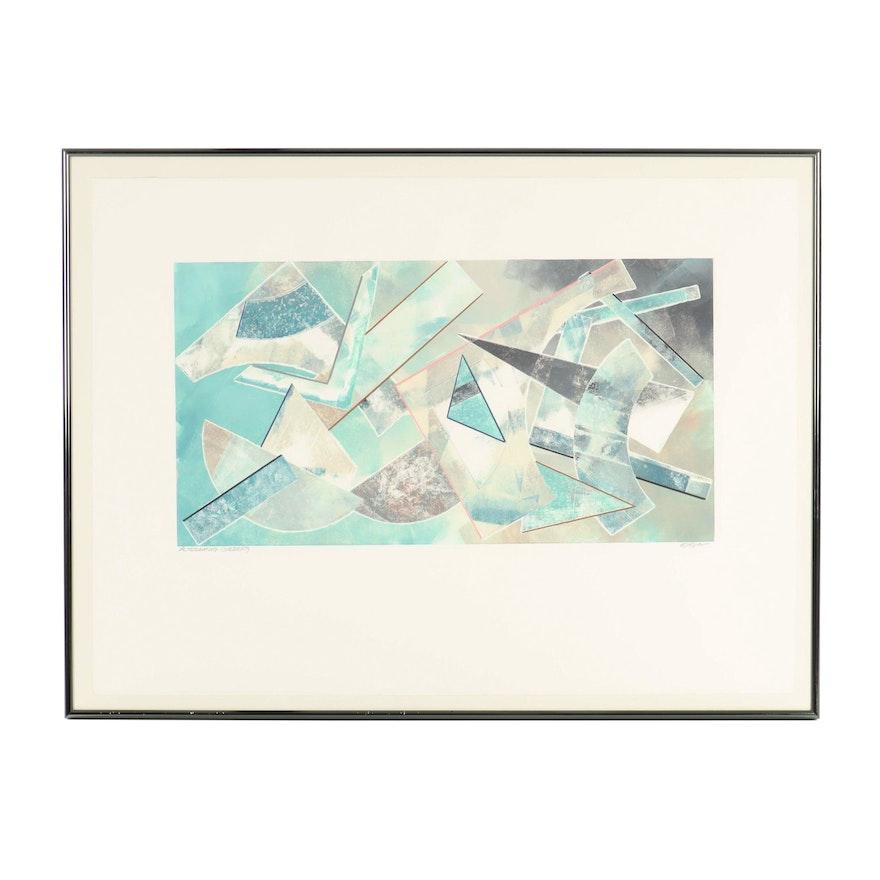 "Barbara Ellison Monoprint ""Alternating Currents"""
