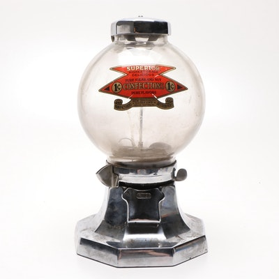 R.D. Simpson Countertop Confection Dispenser with Case, 1930s