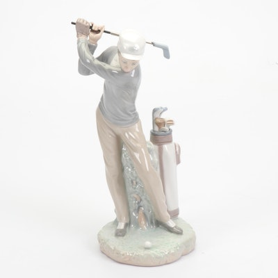 "Lladró ""Golfer"" Figurine"