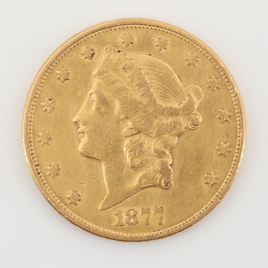 1877-S Liberty Head $20 Gold Double Eagle