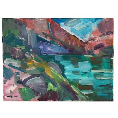"Jose Trujillo 2018 Oil Painting ""Quiet River"""