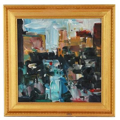 "Jose Trujillo 2019 Oil Painting ""Street Views"""