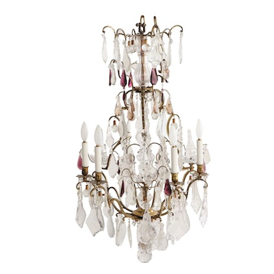 Louis XIV Style Six Light Chandelier, Early 20th Century