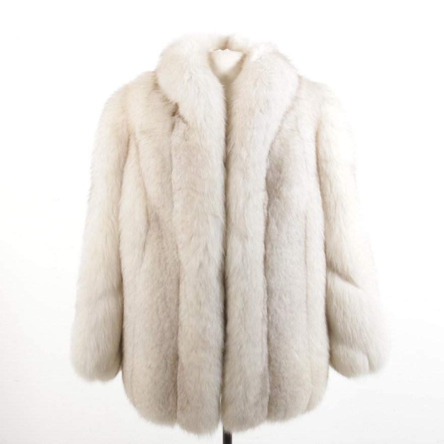 Blue Fox Fur Full Skin Jacket Giorgio from Sant'Angelo by Robert Sydney