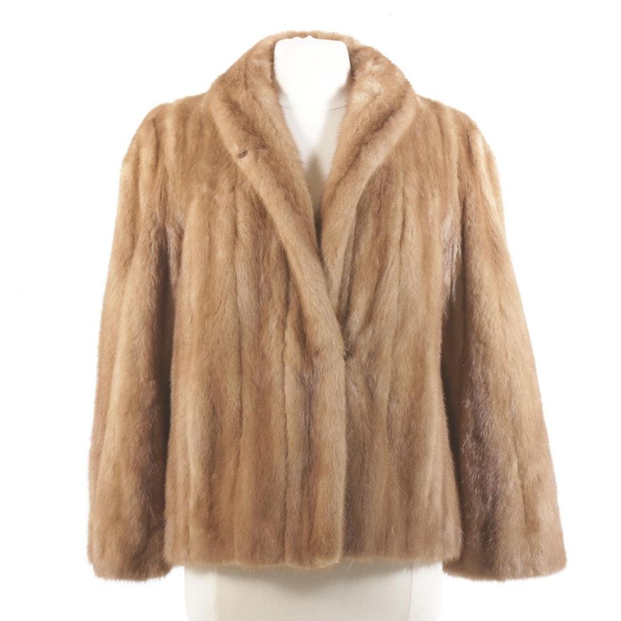 Pastel Mink Fur Jacket, Mid-20th Century