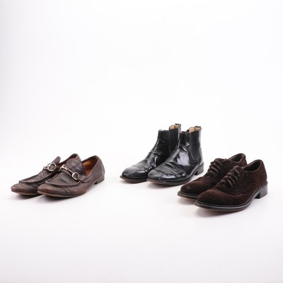 Gucci, Salvatore Ferragamo, and Other Men's Leather Dress Shoes