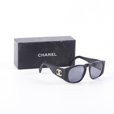 Chanel 01450 Black Quilted CC Sunglasses