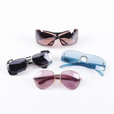 Gucci Sunglasses and Christian Dior Overshine 2 Sunglasses