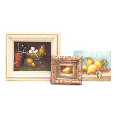 Miniature Oil Still Life Paintings
