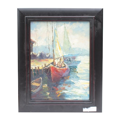 Oil Painting of Sailboat