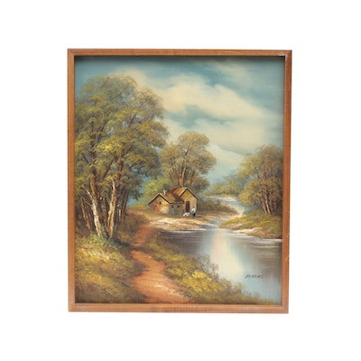 Dickens Landscape Oil Painting