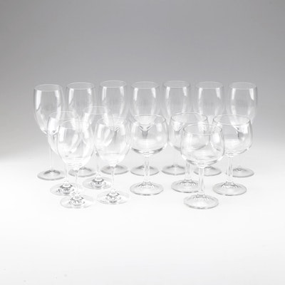 French Crystal Wine Glasses and Goblets, Late 20th Century
