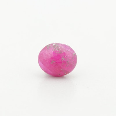 Loose 1.95 CT Oval Cabochon Ruby Gemstone