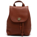 Coach Brown Leather Daypack Drawstring Backpack