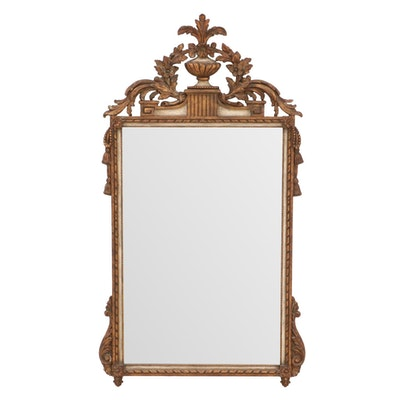 Italian Rococo Style Carved Giltwood Wall Mirror, Circa 1920s