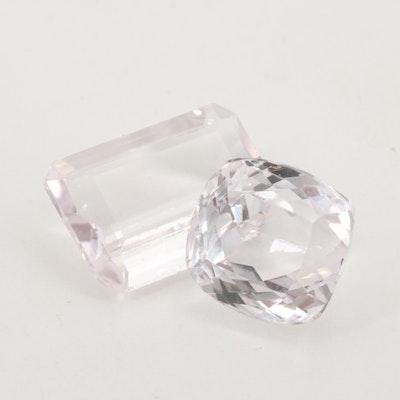 Loose 24.02 CTW Kunzite Gemstones