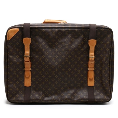 Louis Vuitton Monogram Canvas Satellite Suitcase with Vachetta Leather
