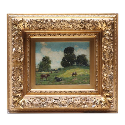 James Hagaman Oil Painting Pastoral Scene