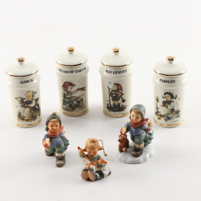 M.J. Hummel Spice Jars, Goebel Ornaments and Figurine