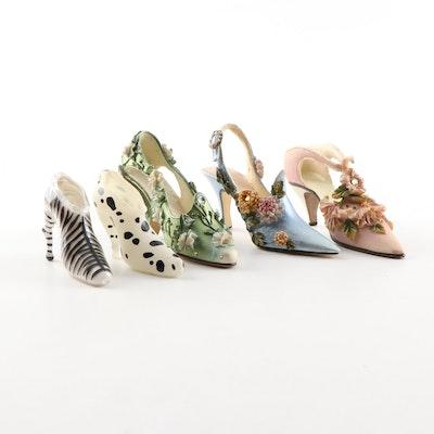 Hand-Painted Shoe Figurines