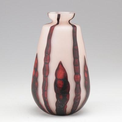 "Wilhelm Kralik Söhne ""Bamboo"" Blown Glass Vase, circa 1919 - 1933"