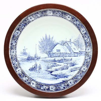 Delfts Porcelain Charger by Boch for Royal Sphinx