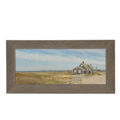 Oil Painting of a Seaside Cottage