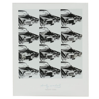 """Offset Lithograph Poster after Andy Warhol """"Twelve Cars"""""""