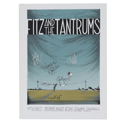 Fitz and the Tantrums Autographed Serigraph Poster for Lollapalooza Aftershow