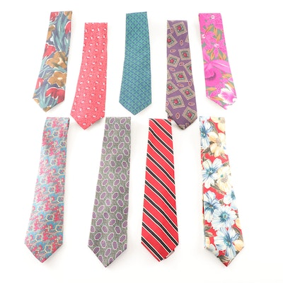 Christian Dior, Hardy Ames, and More Silk, and Silk and Wool Blend Neckties