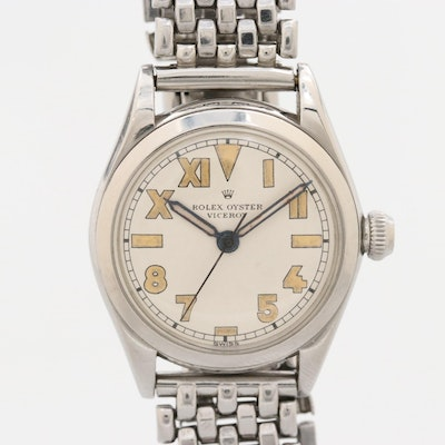 Vintage Rolex Viceroy Stem Wind Wristwatch With California Dial
