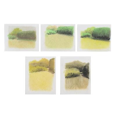 James Wilson Rayen Pastel Embellished Etchings
