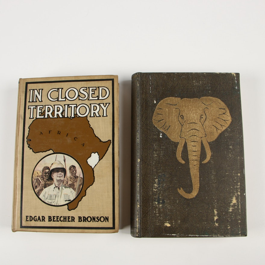 "First Editions ""Elephant"" by Blunt and ""In Closed Territory"" by Bronson"