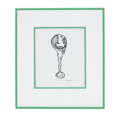 Bill Schiffer Marker Drawing