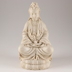 Molded Resin Seated Indian Goddess