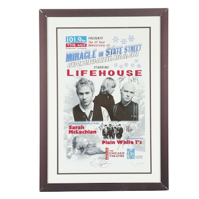 "Autographed Life House & Sarah McLachlan Poster from ""Miracle on State Street"""