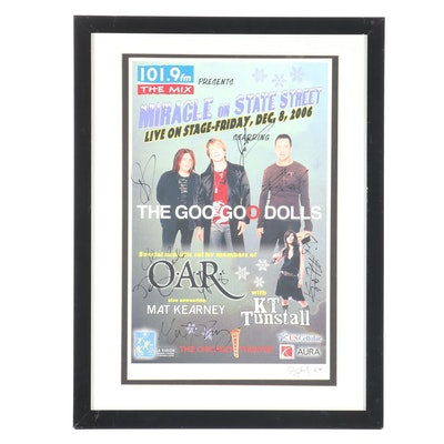 "Autographed The Goo Goo Dolls Poster from Chicago ""Miracle on State Street"""