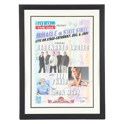 "Autographed Barenaked Ladies & Liz Phair ""Miracle on State Street"" Poster"