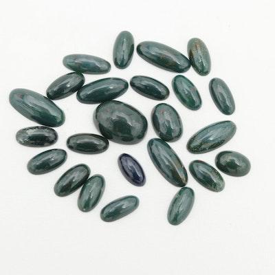 Loose 34.80 CTW Bloodstone Gemstones