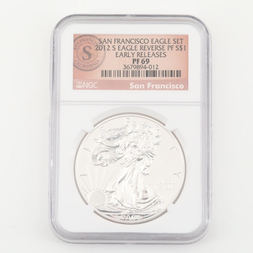 Low Mintage NGC Graded PF69 2012-S Reverse Proof American Silver Eagle