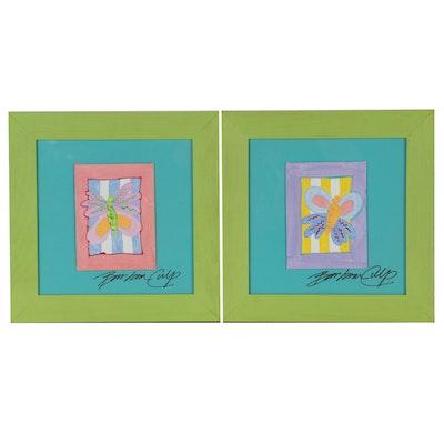Barbara Culp Acrylic Paintings of Butterflies