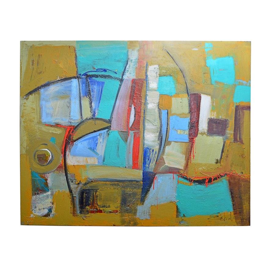 "Susan Schuler Oil Painting ""Taos"""