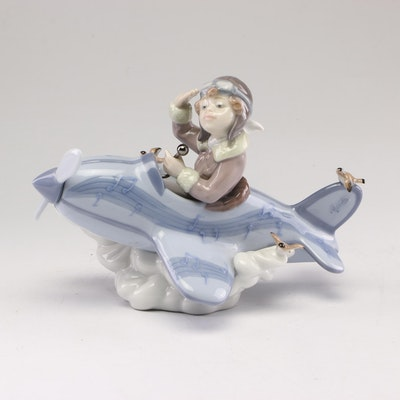 "Lladro ""Over The Clouds"" Porcelain Figurine"