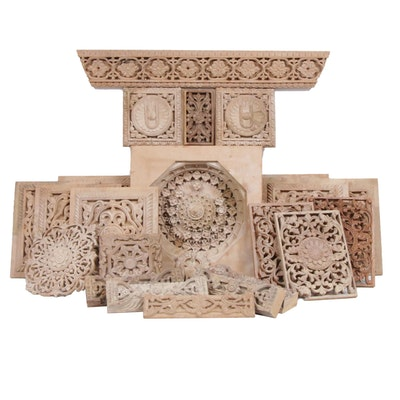 Indian Architectural Carved Wood Accent Moulds