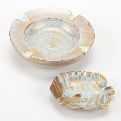 """Stangl Pottery """"Antique Gold"""" Ashtrays, Mid-Century"""