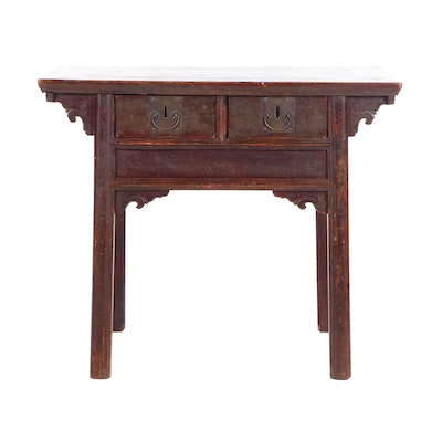 Chinese Provincial Painted Wooden Table, Early 20th Century