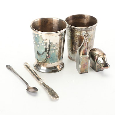 Dansk Silver Plated Paperweights with Other Plated Items